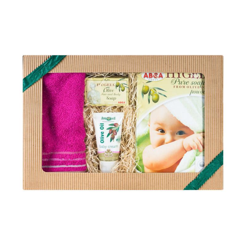 Image of Olivový obchod Dárkový balíček pro miminka a novorozence - zelená