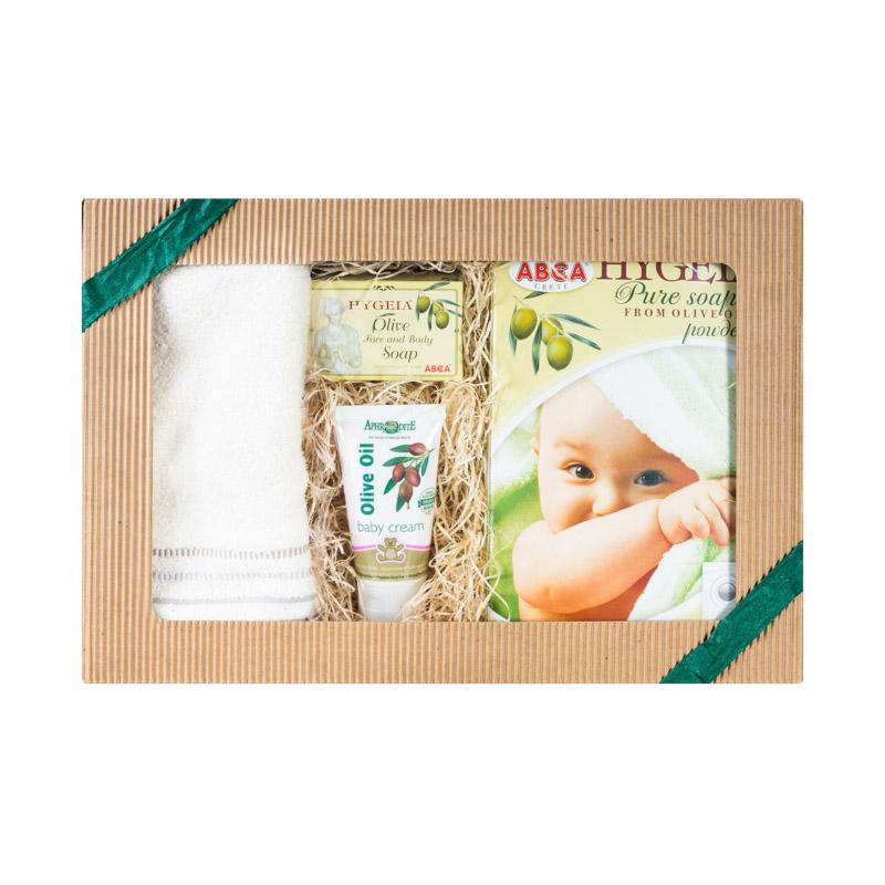 Image of Olivový obchod Dárkový balíček pro miminka a novorozence - krémová