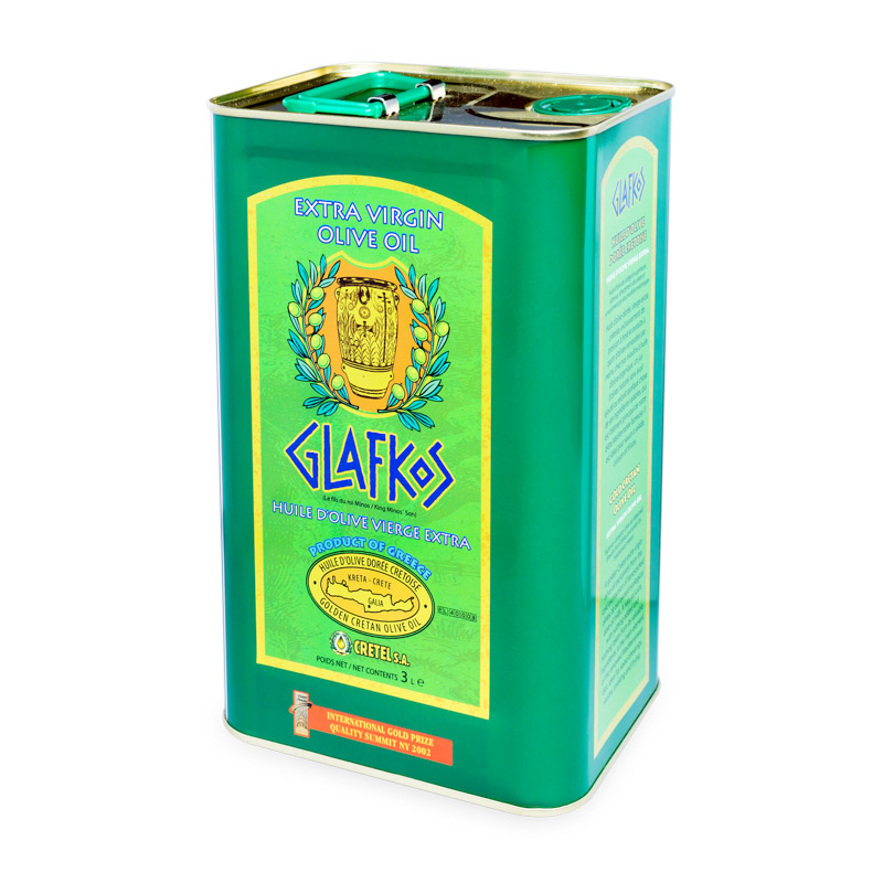 Glafkos Extra panenský olivový olej 3 l plech, ORGANIC, Cretel