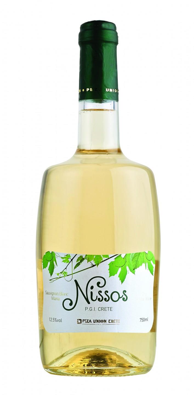 Krétské bílé víno NISSOS P.G.I. CRETE 750ml